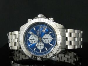 NEW NEUF MONTRE WATCH INVICTA AVIATOR POLISHED  BREITLING STYLE