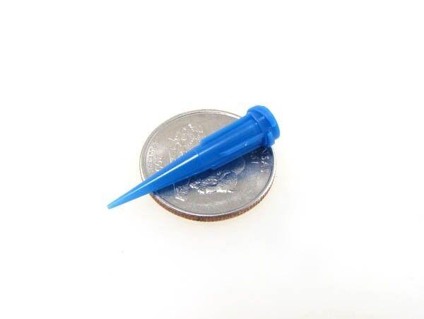 22G Glue Solder Paste Dispensing Needle Tip Threaded Luer Lock - Pack of 20