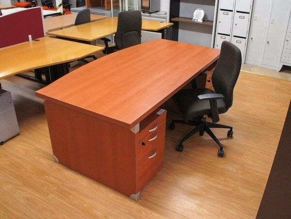 Bow front manager office desk