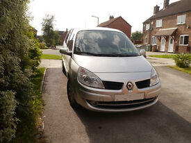 Renault Grand Scenic dynamic, 7 seats in silver 2008 MOT MAY 2017