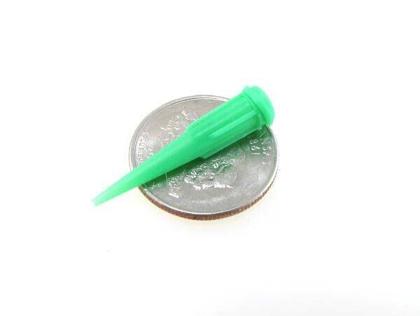 18G Glue Solder Paste Dispensing Needle Tip Threaded Luer Lock - Pack of 20