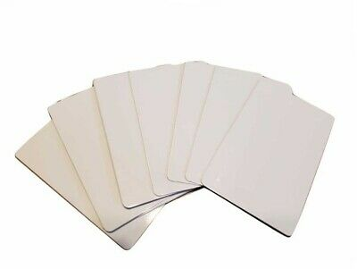 50 Pieces Business Cards - Aluminum Sublimation Blanks 2 X 3.5 New