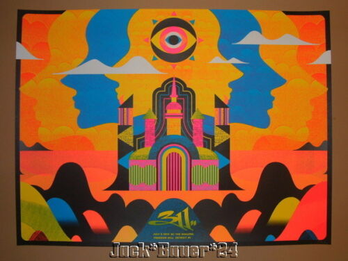 311 Detroit Silent Giants Poster Print Signed Numbered 2014 Art - $149.99
