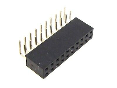 2x10 Pos 20-pin 2.54mm 0.1 Female Header Right Angle - Pack Of 5