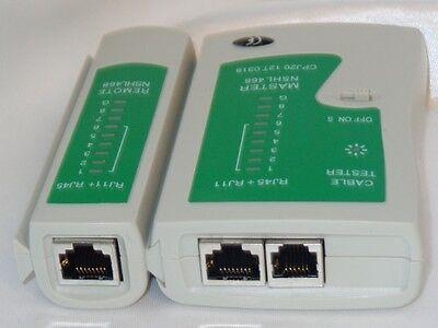 Cat5 Netzwerk Tester (Kabeltester Kabel Tester Netzwerk Testgerät für RJ45 CAT5 RJ11 RJ12 ISDN LAN DSL)