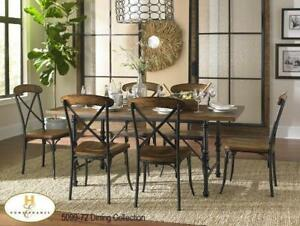 Distressed ash veneer tabletop Dining Set| Online only Sale (MA249)