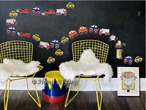 43 Cars Wall Decor Vinyl Decal Sticker Nursery Removable Art Mural Kids Boys DIY