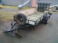 Custom Double in length trailer with electric brakes