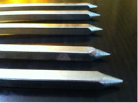 """Tandoori Stick stainless steel Square 1/2"""" and 1 meter length"""