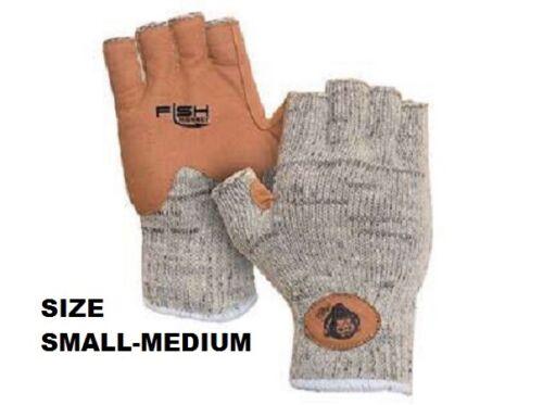 Fish Monkey Sz S/M Wooly Half Finger Knit Wool Fishing Gloves FM30 Small Medium
