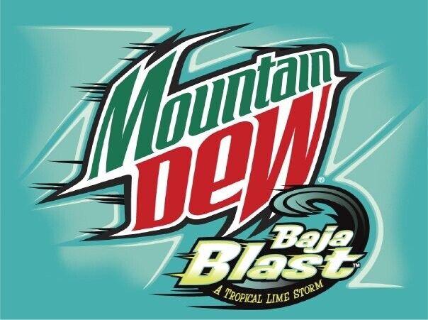 🌊🤩⛈FLASH SALE⛈🤩🌴 1x 12oz 12pk Baja Blast Mountain Dew Cans Fresh 3/21-4/21