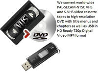 We Convert Home Movie VHS Tapes to DVD & USB