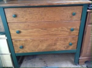 Antique pine dresser with mirror