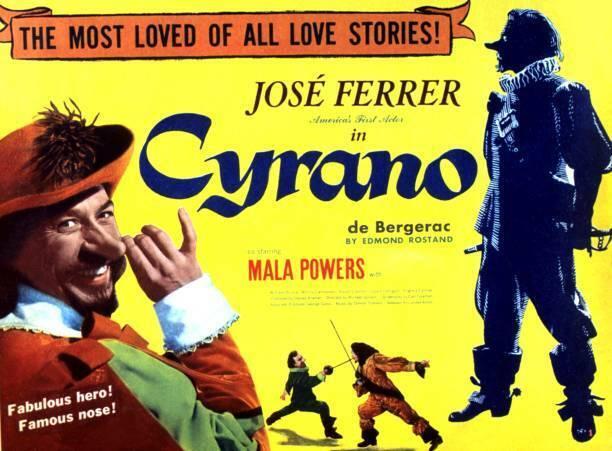 Cyrano De Bergerac Lobby Card Jose Ferrer 1950 OLD MOVIE PHOTO