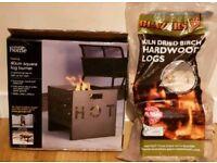 40cm Log Burner & bag of Logs