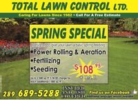 SPRING SPECIAL: Rolling, Aerating, Fertilizing and Seed $108.95