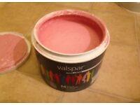 2.25 litres Pink matt paint