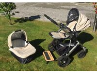 High quality Uppababy Vista pram travel system and buggy board plus lots of extras.