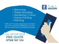 Adam Brown Plastering Services 07568567324