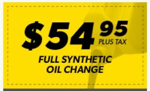 Full Synthetic Oil Change only $ 54.95