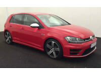 RED VOLKSWAGEN GOLF R 2.0 TSI 300 310 R 4 MOTION 5 DOOR FROM £93 PER WEEK!