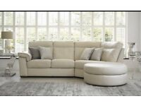 cream leather corner sofa. brand new comes with 5year guarantee. bargain at £380
