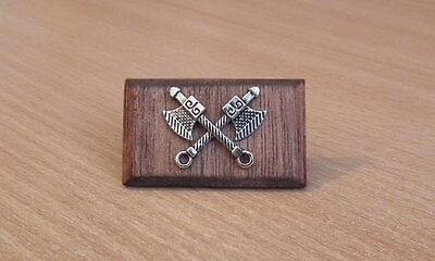 1/12, Dolls House Miniature Handmade Axes Display Plaque Axe Picture Tudor Lgw