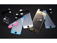 For iPhone 7 Mirror Case Color Tempered Glass film For iPhone 7 7 plus 6S 6 Plus