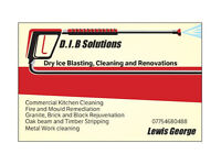 Dry Ice Blasting and cleaning. Granite cleaning a timber restoration.