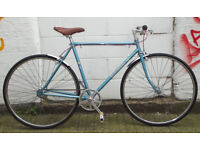 Vintage Single speed bike hand built frame 20in, NEW TYRES, BRAKES, CHAIN, Saddle,Handlbar, Grips