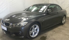 Grey BMW 430d M Sport Convertible Auto 2015 258 BHP FROM £103 PER WEEK!
