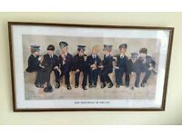 A pair of comical police framed pictures