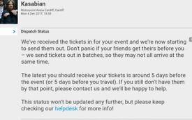 Kasabian tickets for sale x2