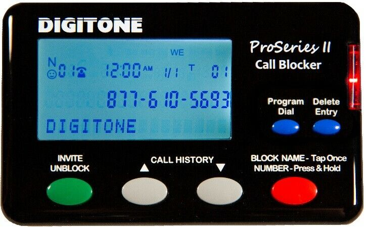 All New! Digitone ProSeries II Call Blocker  Automatically Blocks SPAM, V+ Names