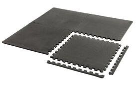 York Fitness Interlocking Floor Guard 2 packs totaling 8 mats with edge trim