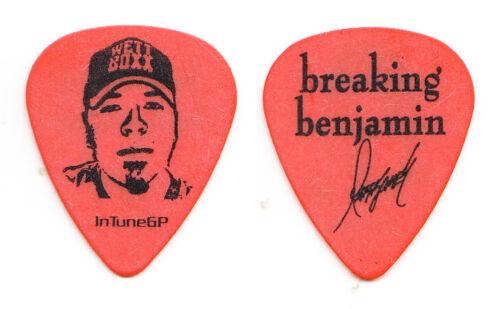 Breaking Benjamin Mark James Klepaski Signature Orange Guitar Pick - 2008 Tour