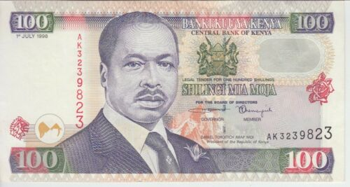 KENYA BANKNOTE P37a  100  SHILLINGS 1996, EF