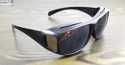 Überzieh Sonnenbrille Überbrille für Brillenträger  Brille schwarz Unisex