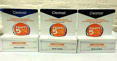 3 Pcs Clearasil Stubborn Acne Control 5 In 1 Concealing Treatment Cream 5 / 2020