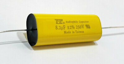8.2uf 250v Metallized Polyester Film Capacitor 2 Audiophile Crossover Tweeter