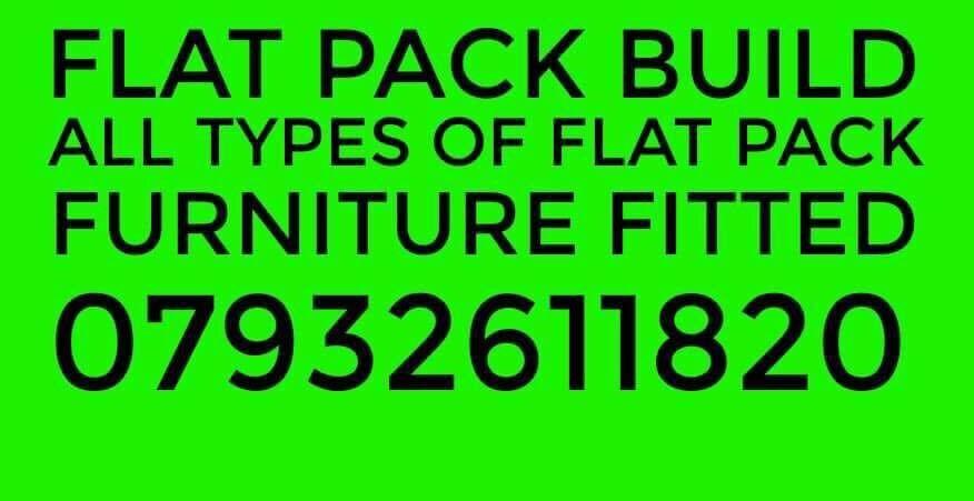 Flatpack Build Furniture Assembly