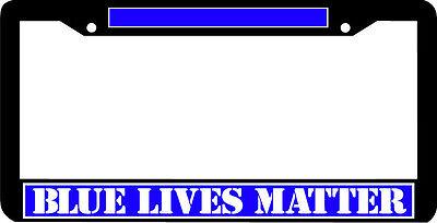 BLUE LIVES MATTER police sherrif c.o. deputy trooper cop License Plate (O Matter Frame)