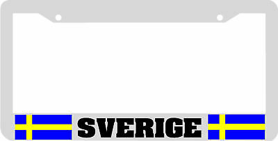 SVERIGE SWEDEN SWEDISH FLAG License Plate - Swedish Flag Framed