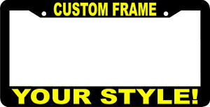 Custom personalized yellow letters customized vanity for Custom license plate letters
