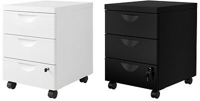 Ikea Erik Metal Home Office Filing Drawer Unit On Castors Lock Cabinet2colors