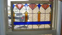 New Price - Antique stain glass window