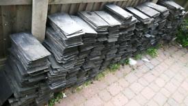 Reclaimed Welsh slate roof ptiles