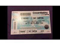 Creamfields tickets x2