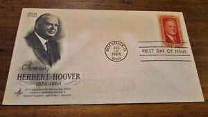 1965 Herbert Hoover 5 Cent First Day Cover