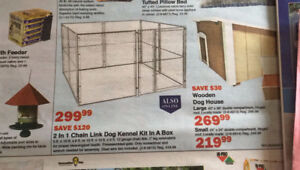 2 in 1 Chain Link Dog Kennel Kit (from Peavey Mart)